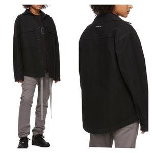 FEAR OF GOD Black Canvas Shirt Jacket NWT Sz M